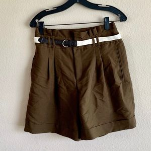 NWT Anthropologie Safari Green High Waisted Shorts